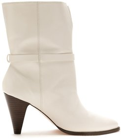 leather Bel boots - White