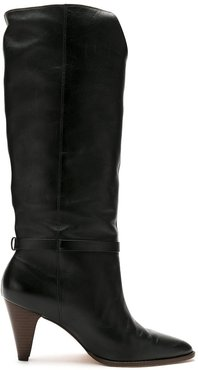 leather Bia boots - Black