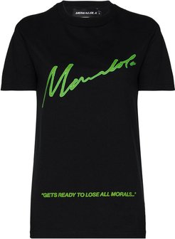 x Homecoming Lose All Morals T-shirt - Black