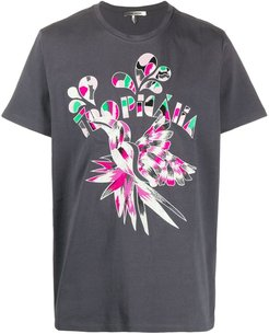 Tropicana embroidered T-shirt - Grey