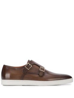 monk-style sneakers - Brown