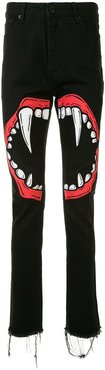 Spiky Teeth trousers - Black