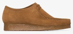 brown Wallabee suede shoes