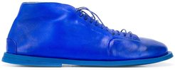 leather lace-up shoes - Blue