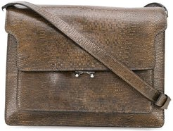 Trunk lizard-print shoulder bag - Brown