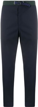 cropped wool trousers - Blue