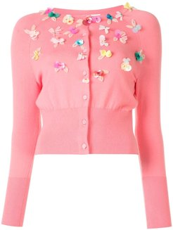 button-down cardigan - PINK