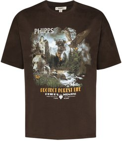 protect forest life T-shirt - Brown