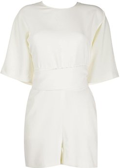 Dance v-back playsuit - White