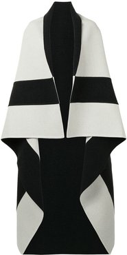 two-tone cashmere blanket scarf - 10236