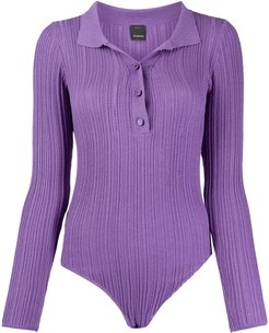 knitted polo body - PURPLE