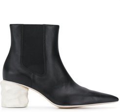Juanita pointed ankle boots - Black