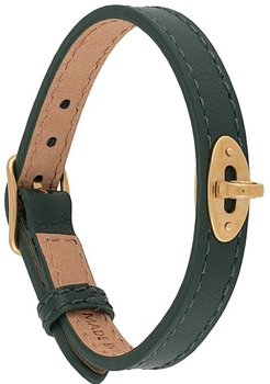 Bayswater thin 10mm leather bracelet - Green