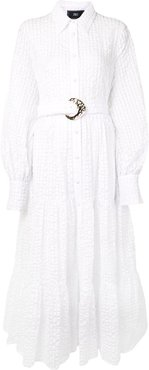 Capri belted shirt dress - White