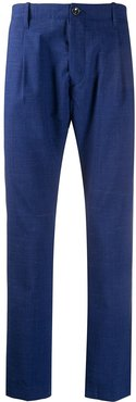 straight-leg tailored trousers - Blue