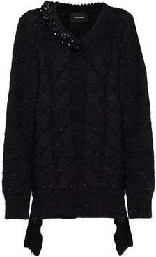 beaded metallic jumper - Black
