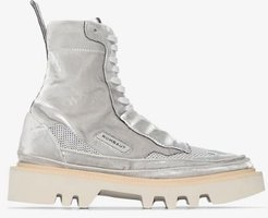 Grey Protect Hybrid Lace-up Boots
