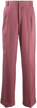 pleated wide-leg trousers - PINK