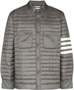 4-Bar padded shirt jacket - Grey