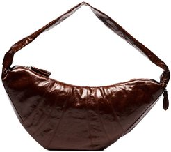 Croissant shoulder bag - Brown