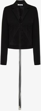 ruched tailored jacket