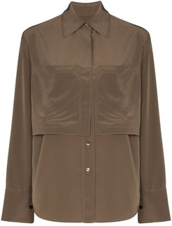 storm flap button-up shirt - Brown