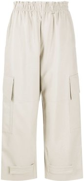Sylvia faux leather trousers - Neutrals