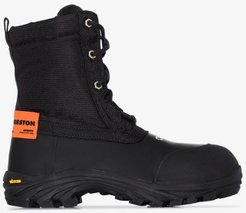 black security lace-up boots