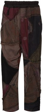 Gerald patchwork cropped trousers - PURPLE