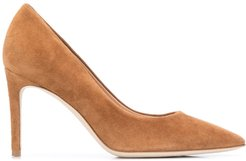 smooth pointed pumps - Brown