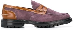 panelled loafers - PURPLE
