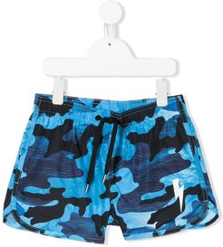 camouflage-print swimming shorts - Blue