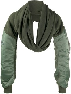 Mix long-sleeve scarf - Green