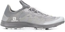 x Salomon mesh panelled sneakers - Grey
