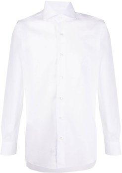 button-up long sleeve shirt - White