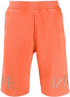 logo track shorts - ORANGE