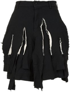 distressed tailored shorts