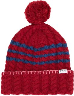 cable-knit beanie - Red
