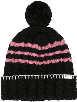 cable-knit beanie - Black