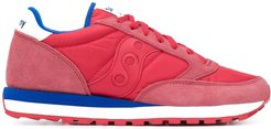 colour-block low-top sneakers - Red