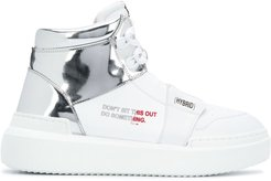 Hybrid high-top sneakers - White