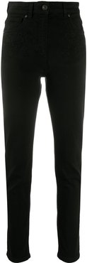 high-rise slim-fit jeans - Black