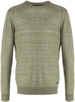 crew-neck linen sweater - Green