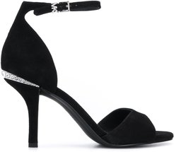 Malinda crystal-embellished sandals - Black