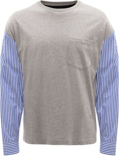 tailored-sleeve T-shirt - Grey