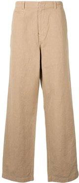 wide-leg tailored trousers - Brown