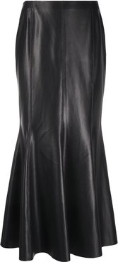 vegan leather maxi-skirt - Black