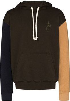 Inside Out colour-block hoodie - Green