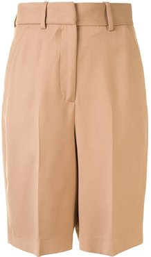 knee-length tailored shorts - Brown