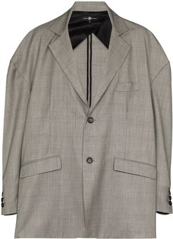 x Browns 50 oversized checked jacket - Grey